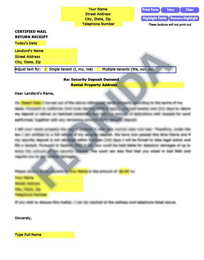 Florida-security-deposit-demand-letter